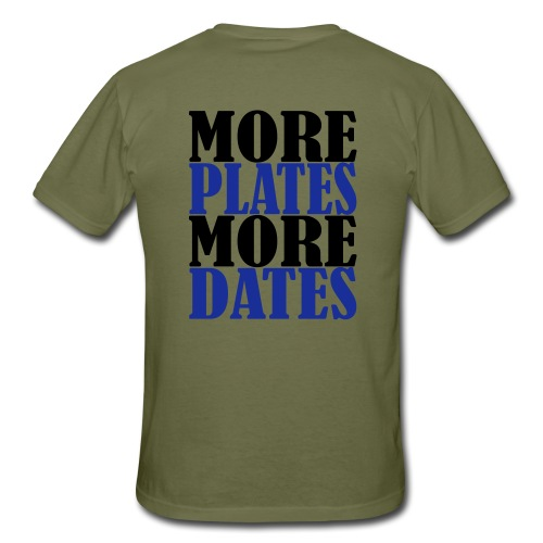 More Plates More Dates, Training, Fitness, Gym - Männer T-Shirt