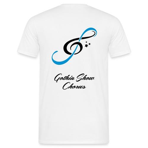 GothiaShowChorus LOGGO Blå svart - T-shirt herr