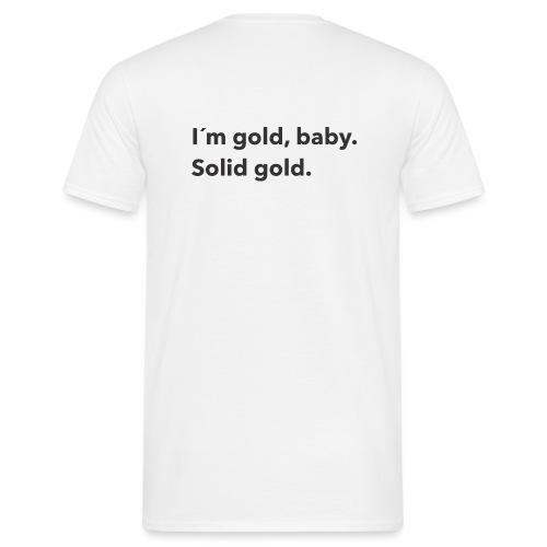 Gold baby - T-shirt herr