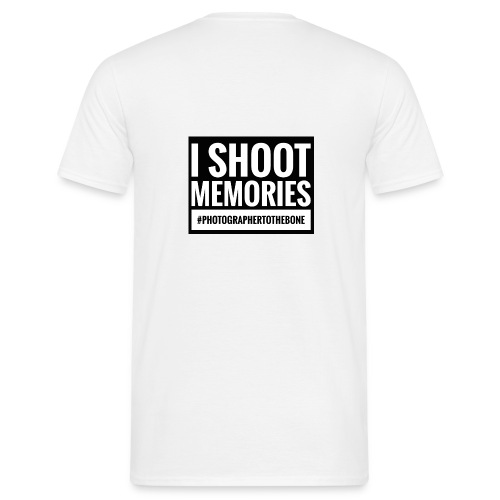 I SHOOT MEMORIES, #photographertothebone - Herre-T-shirt