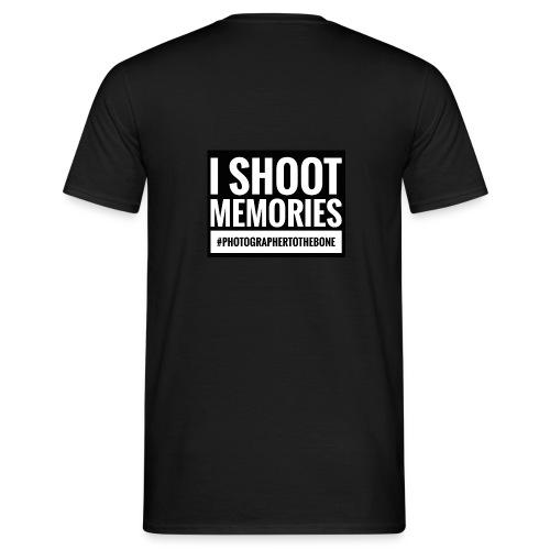 I SHOOT MEMORIES, #photographertothebone - Herre-T-shirt