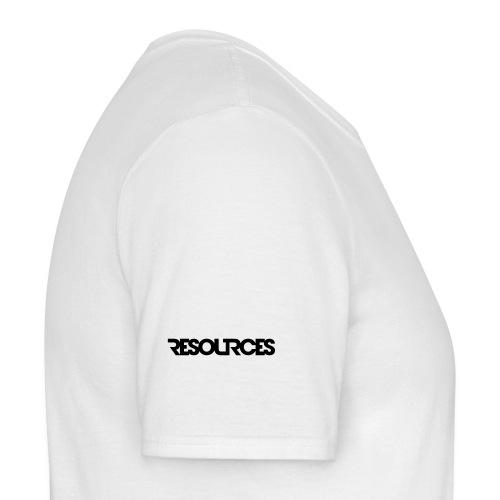 RESOURCES LOGO Schriftzug - Männer T-Shirt