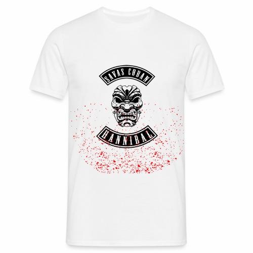 Savas shirt weissaufschwarz - Männer T-Shirt