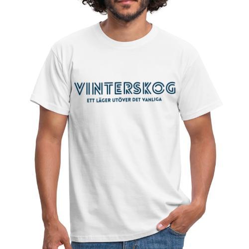 Vinterskog med blått tryck - T-shirt herr