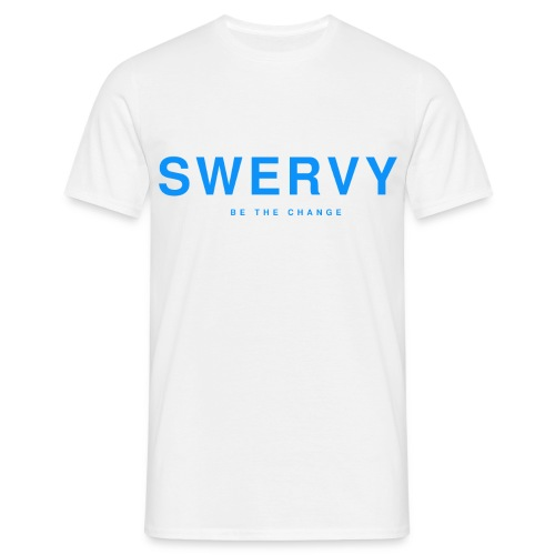 SWERVY BE THE CHANGE - BLUE - Men's T-Shirt
