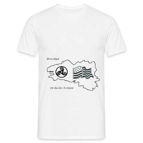 t-shirt Fier d'etre breton - T-shirt Homme