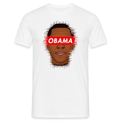 obama distorted - Camiseta hombre