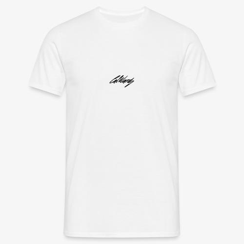 Cal Wardy Signature - White - Black Font - T-Shirt - Men's T-Shirt