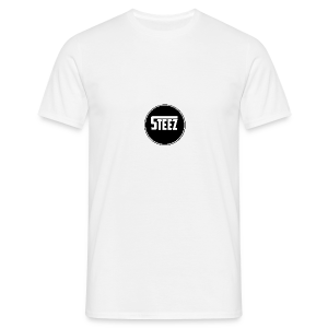 Steez logo white - Mannen T-shirt