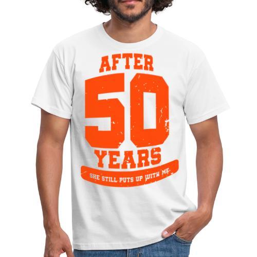 Ü50 Über 50 Jahre 50th - colorize - Männer T-Shirt