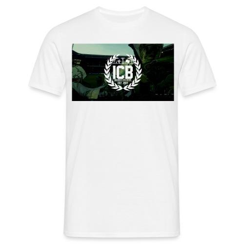 ICB Logo mit Hintergrund - Männer T-Shirt