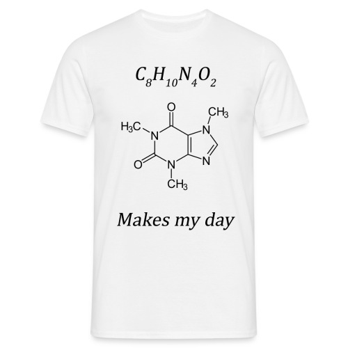 Coffein makes my day - Männer T-Shirt