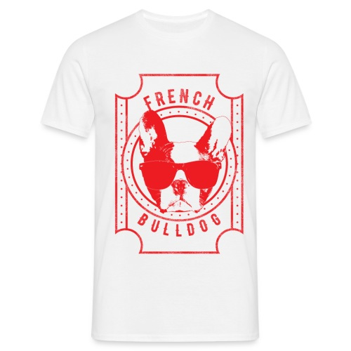 Franse Bulldog rood - Mannen T-shirt