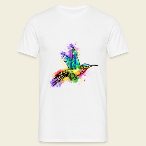 Farbexplosion Kolibri - Männer T-Shirt