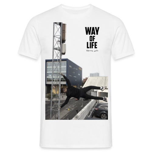large image edit png with text 2 - Men's T-Shirt