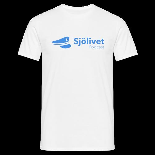 Sjölivet podcast - Svart logotyp - T-shirt herr