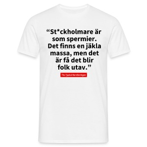 The Typical Stockholmare - T-shirt herr