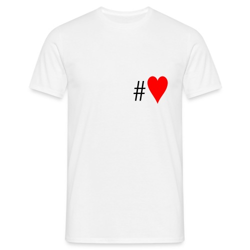 Hashtag Heart - Men's T-Shirt