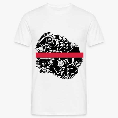 Schwarz und Weiß - Männer T-Shirt
