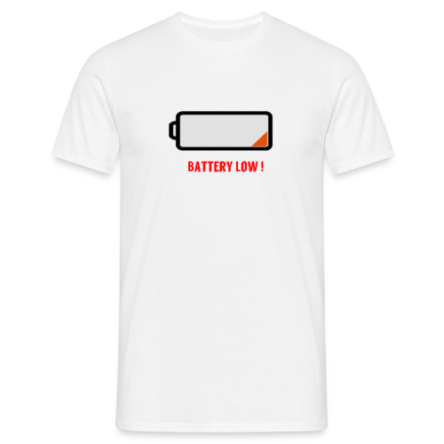 Battery Low - Männer T-Shirt
