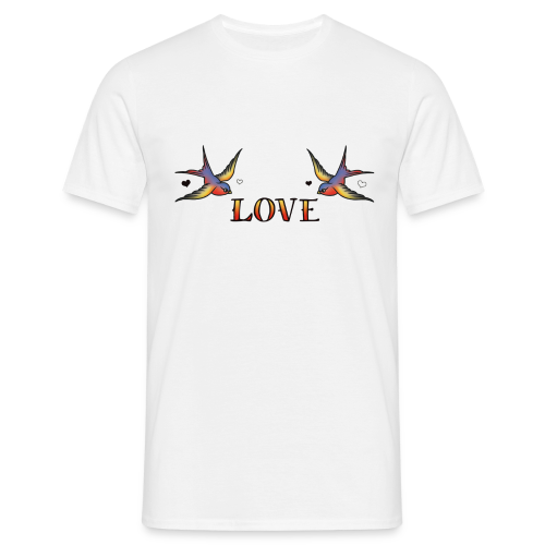 A Pair Of Swallows In Love - Men's T-Shirt
