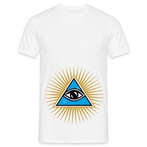 illuminati eye - Camiseta hombre