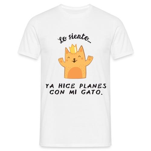 Planes con mi gato - Camiseta hombre