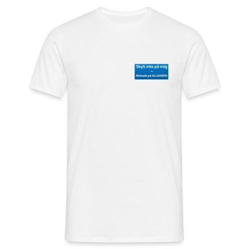 Jag röstade på alliansen (blå) - T-shirt herr