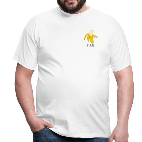 Y.A.M. LOGO Wit - Mannen T-shirt