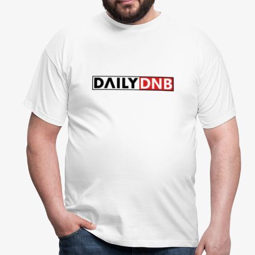Daily.dnb White - Männer T-Shirt