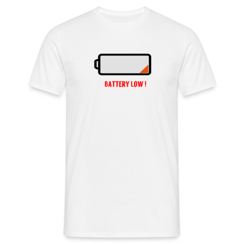 Battery Low - Männer T-Shirt