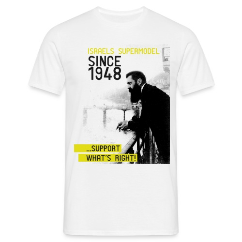 Israel since 1948 | Theodor Herzl - Männer T-Shirt