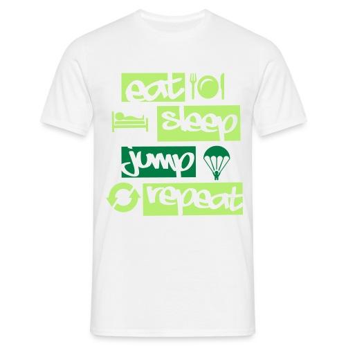 Eat Sleep Jump Repeat - Männer T-Shirt