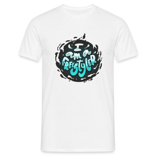 Blue / White - Men's T-Shirt