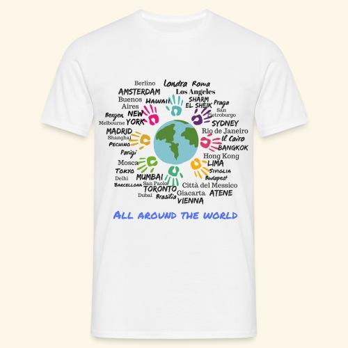 All around the world uomo - Maglietta da uomo