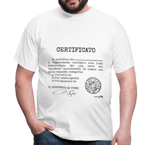 1.07 Certificato Piu Generico (Aggiungi nome) - Maglietta da uomo