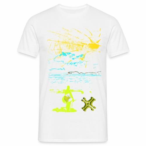 Sol y Mar de Adiswebs - Camiseta hombre