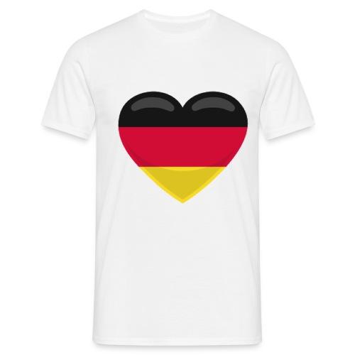 germany heart - Männer T-Shirt