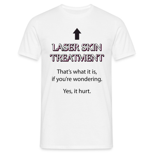 Laser Skin Treatment PDL Face Bruising Rosacea - Men's T-Shirt