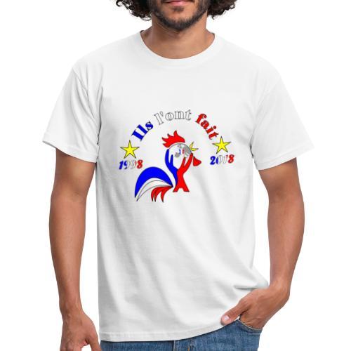 champion du monde 2018 France coq 2 étoiles - T-shirt Homme
