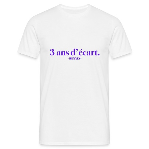 3 Ans D'écart - Nom & Localisation - T-shirt Homme