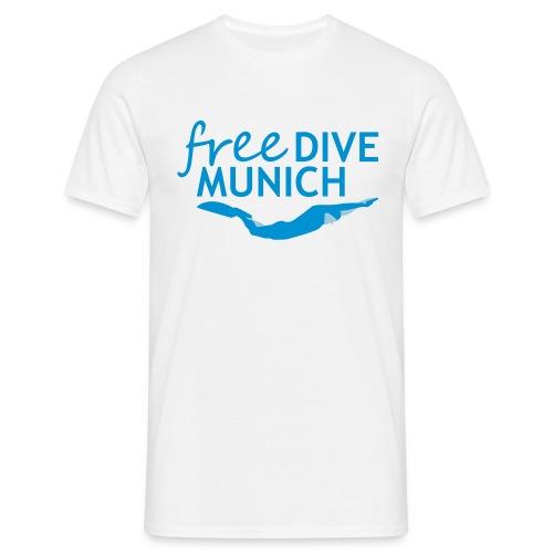 FreeDive Munich Logo zweifarbig - Männer T-Shirt