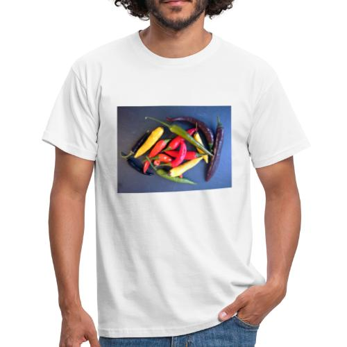 Chili bunt - Männer T-Shirt