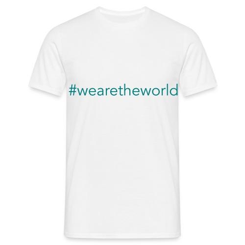 #wearetheworld - Männer T-Shirt