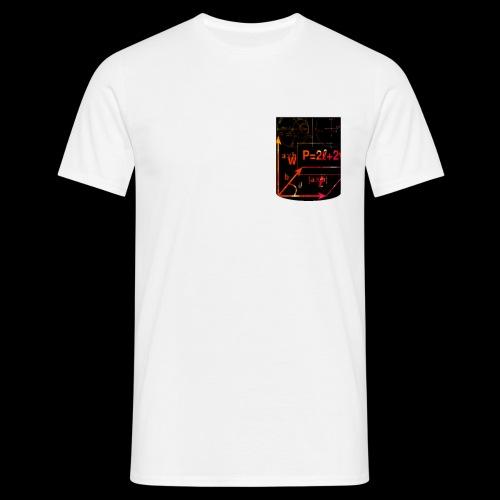 Mathe Physik Wissenschaft Lehrer Pocket Design - Männer T-Shirt