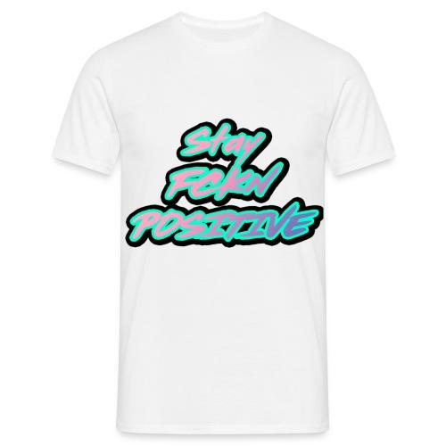 Stay FCKN Positive - Pink-Türkis Sommer Shirt - Männer T-Shirt