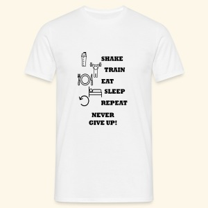 Shake Train Eat Sleep Repeat - Camiseta hombre