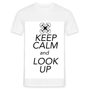 Keep Calm and Look Up - Mannen T-shirt