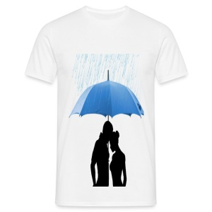 Love under the umbrella - Mannen T-shirt