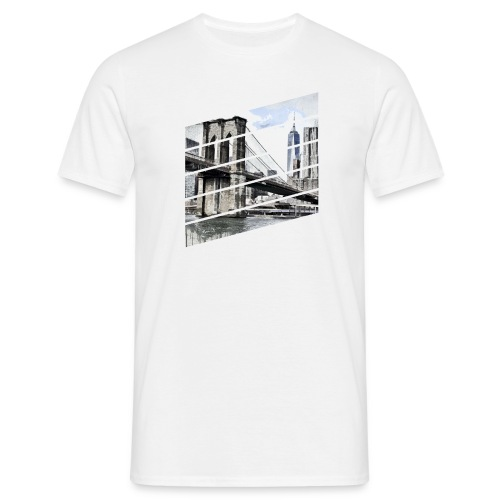 pont de brooklyn - T-shirt Homme